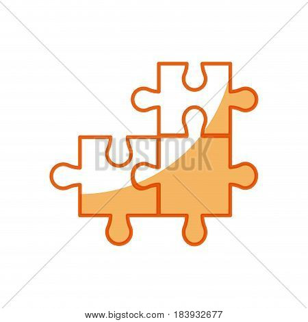 puzzle pieces object shape work vector illustration
