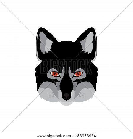 Werewolf head emblem. Vector illustration for your design.