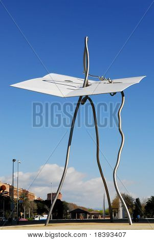 Sculpture by Antoni Llena in Olympic Village, Barcelona, it honours the poor who were uprooted from their neighbourhood