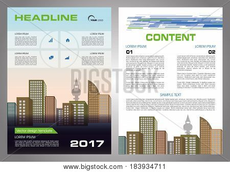 Vector Flyer, Corporate Business, Annual Report, Brochure Design And Cover Presentation With Blue An