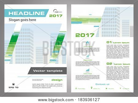 Vector Flyer, Corporate Business, Annual Report, Brochure Design And Cover Presentation In Green And
