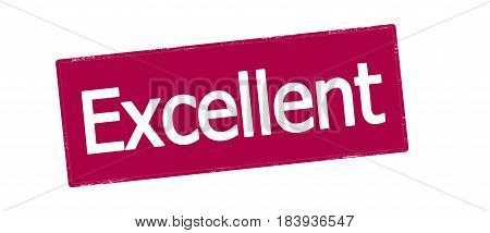 Stamp with word excellent inside vector illustration