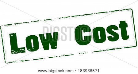 Stamp with text low cost inside vector illustration