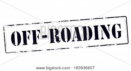 Stamp with text off roading inside vector illustration