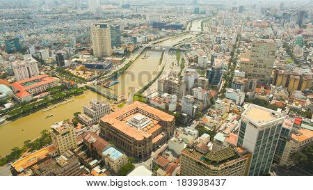 Saigon city. The view from the heights.