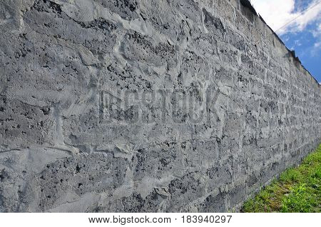 Weathered And Stained Grey Block Wall Texture