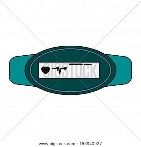 colorful graphic fitness band hand bracelet with electronic screen vector illustration