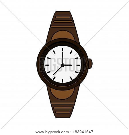 colorful graphic golden male wristwatch vector illustration