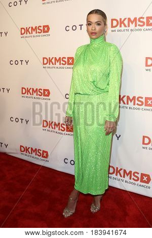 NEW YORK-APR 27: Recording artist Rita Ora attends the 11th Annual DKMS 'Big Love' Gala at Cipriani Wall Street on April 27, 2017 in New York City.
