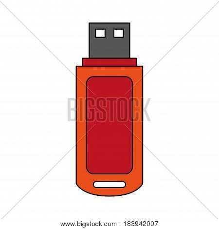 colorful graphic usb pc flash drive vector illustration