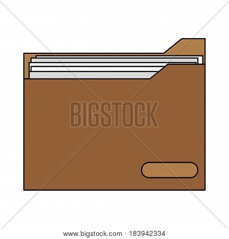 colorful graphic folder with documents inside vector illustration