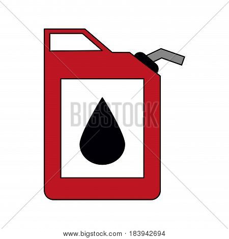 colorful graphic fuel container with petroleum drop symbol vector illustration