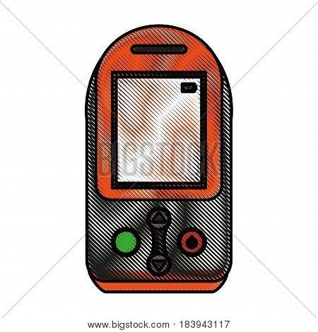 color blurred stripe tech generic gps device vector illustration