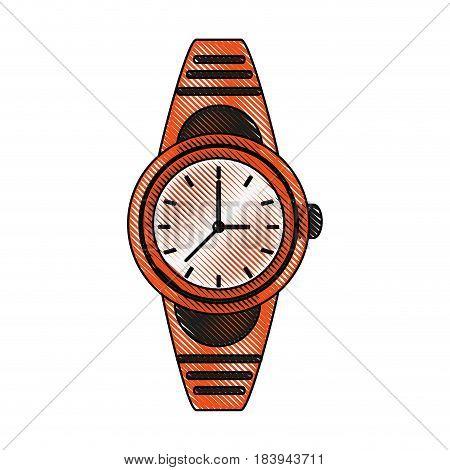 color blurred stripe analog male wristwatch vector illustration