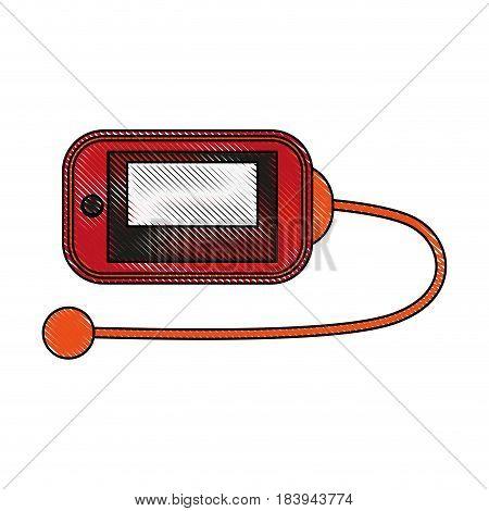 color blurred stripe sport accesories device vector illustration