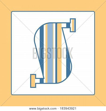 Striped colorful letter S isolated on white background. Elements for kids cards or alphabets in vintage or retro style.