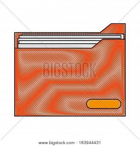 color blurred stripe folder with documents inside vector illustration