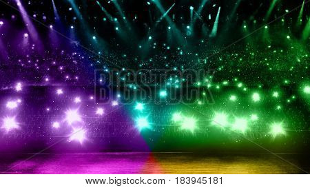 Concert Light With Color Flare