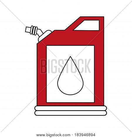 sketch color silhouette fuel container with petroleum drop symbol vector illustration