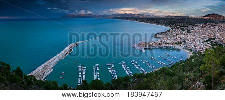 Panoramic View Of Castellamare Del Golfo In Sicily