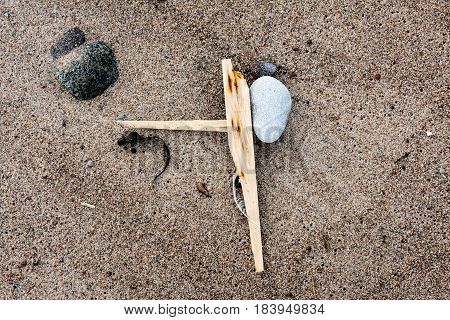 Rocky Beach With Sand And Pebbles