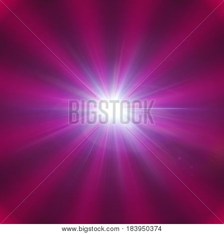 Star Flare With Gradient Radial Pink