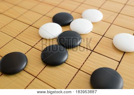 Go game or Weiqi (Chinese board game) background