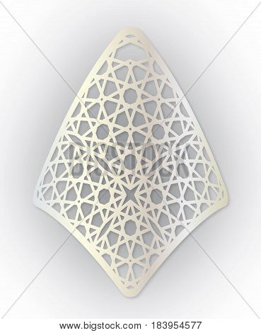 Oriental style laser cutting. Decorative item for attaching to the keychain.