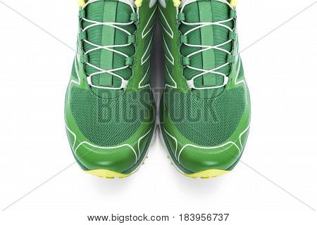 Unbranded sneaker isolated on a white background.