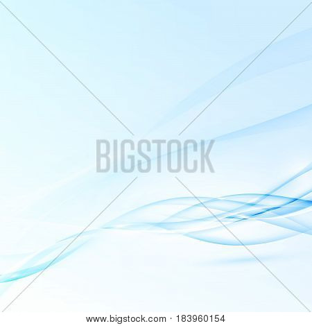 Blue abstract modern futuristic speed waves. Futuristic abstract swoosh lines background layout template. Advertising or corporate folder. Visual composition. Vector illustration