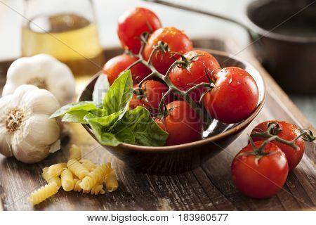 ingredients for italian pasta dish
