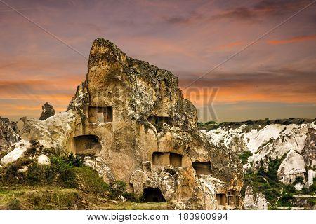 Goreme open air museum landscape, Cappadocia, Turkey