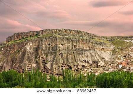 Cappadocia, Anatolia, Turkey. Canyon Ihlara natural landscape