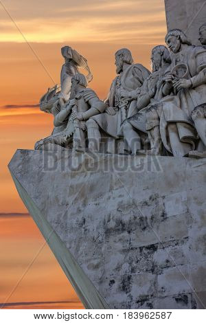 Lisbon, Portugal - May 1, 2017: Monument to the Discoveries, Lisbon, Portugal.