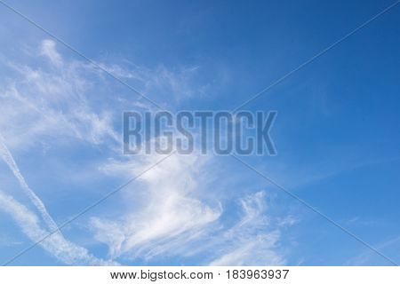 Blue Sky Cloud Background
