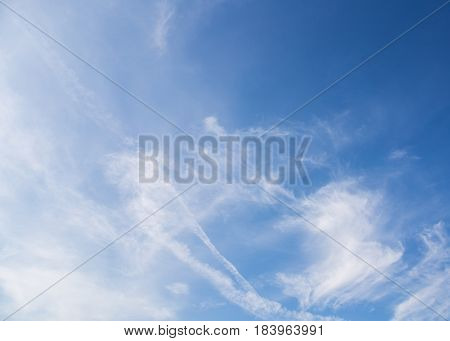 The blue sky clouds nature a ackground