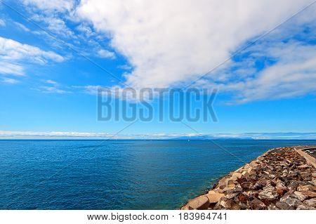 Atlantic coast of the island of Tenerife