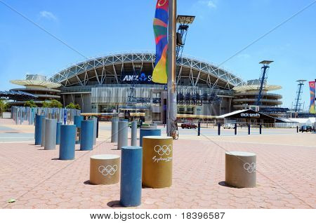 SYDNEY AUSTRALIA - NOVEMBER 26: stadium Sydney, arena for the of the year 2000, Sydney, November 26, 2009