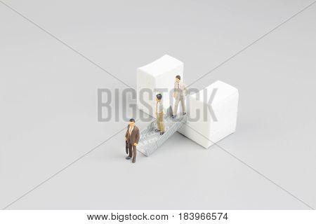 The Figure Of  Escalators At The Board