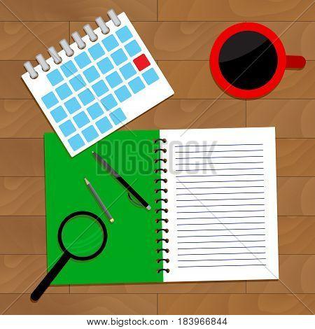 Planning for deadline. Work planner to achievement vector reminder agenda illustration of deadline month
