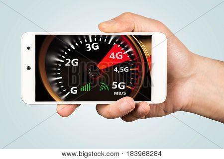 High speed 4G internet on smart phone