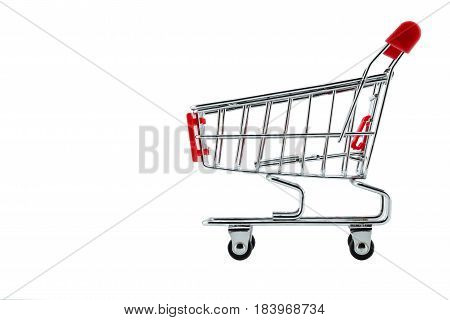 The grocery market cart isolated on a white background.