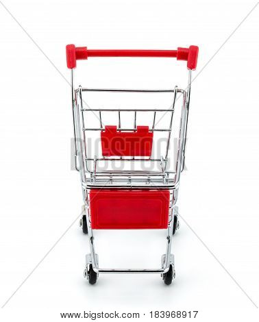 Market Cart On White Background, Clipping Part