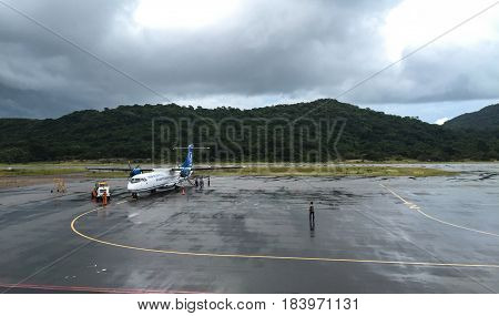 Aircraft At The Airport In Con Dao Island, Vietnam