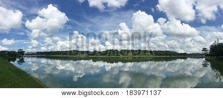 Lake Scenery In Dalat Highlands, Vietnam
