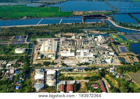 Farming countryside farming industrial development aerial photo
