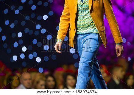 Fashion Show Runway Beautiful Colourful Suit