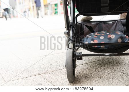 baby inside stroller chair travel tourist push