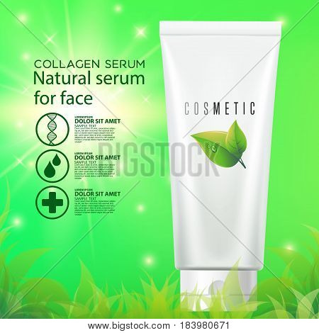 Moisturizing cosmetic products ad. cosmetic product beauty