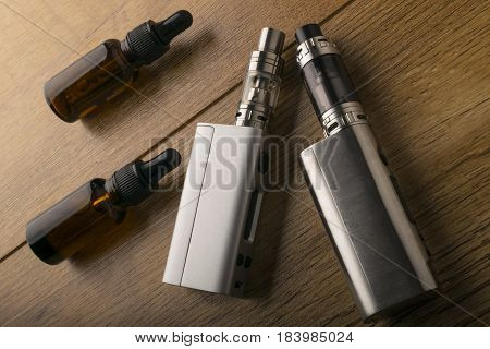 E Cigarette Or Electronic Cigarette For Vaping Mods.
